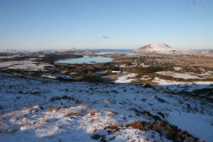 Snow covered area at Connemara National Park